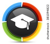 graduation icon  | Shutterstock .eps vector #381094822
