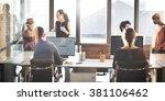 collaboration planning sharing... | Shutterstock . vector #381106462