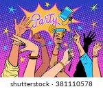 party dancing selfie drinks | Shutterstock .eps vector #381110578