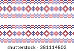 the embroidered pattern | Shutterstock .eps vector #381114802