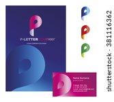 p letter   vector logo design... | Shutterstock .eps vector #381116362
