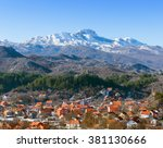 view of lovcen mountain  and... | Shutterstock . vector #381130666