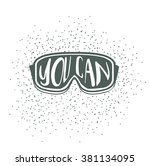 winter typography poster design ...   Shutterstock .eps vector #381134095