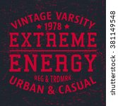 t shirt print design. extreme... | Shutterstock .eps vector #381149548