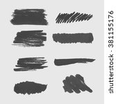 hand drawn ink banners. brush... | Shutterstock .eps vector #381155176