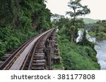 death railway  in thailand. | Shutterstock . vector #381177808