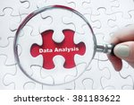 word data analysis with hand... | Shutterstock . vector #381183622