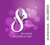 International Woman's Day Design /  Happy Women's Day celebrations concept / Happy Women's Day greeting card, gift card