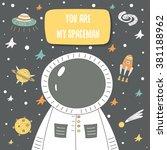 Cute Cosmic Doodle Card ...