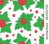 vector seamless pattern with... | Shutterstock .eps vector #381202702