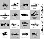 vector black agricultural... | Shutterstock .eps vector #381207655