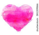 hand drawn watercolor heart... | Shutterstock . vector #381209866
