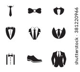 suit icons   Shutterstock .eps vector #381220966