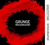 vector black grunge shape on... | Shutterstock .eps vector #381222505