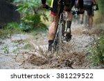 Mountain Bikers Driving In Rain ...