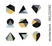 set of icons  geometric logo... | Shutterstock .eps vector #381232582