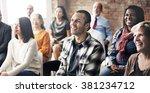 audience brainstorming... | Shutterstock . vector #381234712