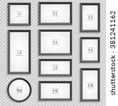 set of photo or picture frames... | Shutterstock .eps vector #381241162