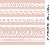 set of white seamless paper... | Shutterstock .eps vector #381242032