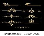 vintage set of decorative... | Shutterstock .eps vector #381242938