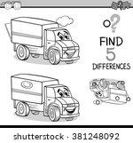 black and white cartoon vector... | Shutterstock .eps vector #381248092