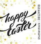happy easter vector hand...   Shutterstock .eps vector #381249358