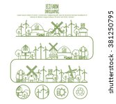 ecology farm infographic... | Shutterstock .eps vector #381250795