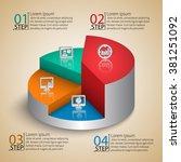 vector abstract 3d paper... | Shutterstock .eps vector #381251092