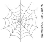 isolated spiderweb trap vector... | Shutterstock .eps vector #381253675