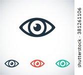 eye  icon | Shutterstock .eps vector #381261106