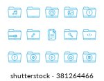 folder icon line collection | Shutterstock .eps vector #381264466
