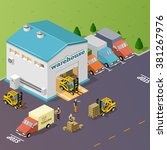 warehouse vector illustration... | Shutterstock .eps vector #381267976