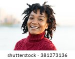 close up portrait of an african ... | Shutterstock . vector #381273136