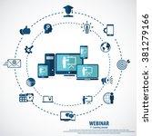 e  learning   webinar concept... | Shutterstock .eps vector #381279166