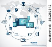 e  learning   webinar concept...   Shutterstock .eps vector #381281842