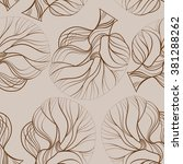 seamless tree pattern | Shutterstock .eps vector #381288262