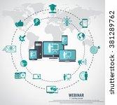 e  learning   webinar concept... | Shutterstock .eps vector #381289762