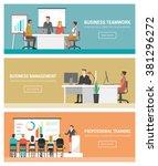 business people working banner... | Shutterstock .eps vector #381296272