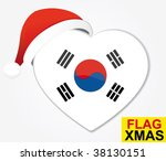 korea christmas heart flag | Shutterstock .eps vector #38130151