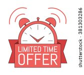 limited time offer. hand drawn... | Shutterstock .eps vector #381303286