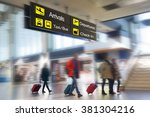 airline passengers at the... | Shutterstock . vector #381304216