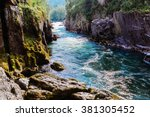 mountain river with the pure... | Shutterstock . vector #381305452