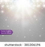 light effect in sky  explosion... | Shutterstock .eps vector #381306196