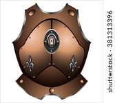 old iron cuirass of the pirate...   Shutterstock .eps vector #381313396
