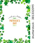 st patrick's day background.... | Shutterstock .eps vector #381332095