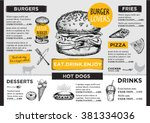 Restaurant Brochure Vector ...