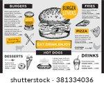 Restaurant Brochure Vector ...