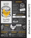 restaurant brochure vector ... | Shutterstock .eps vector #381334072