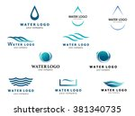 a collection of logos for water ... | Shutterstock .eps vector #381340735