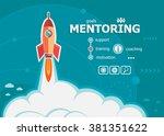 mentoring design and concept... | Shutterstock .eps vector #381351622